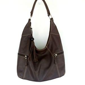 Aurielle Black Leather Shoulder Bag